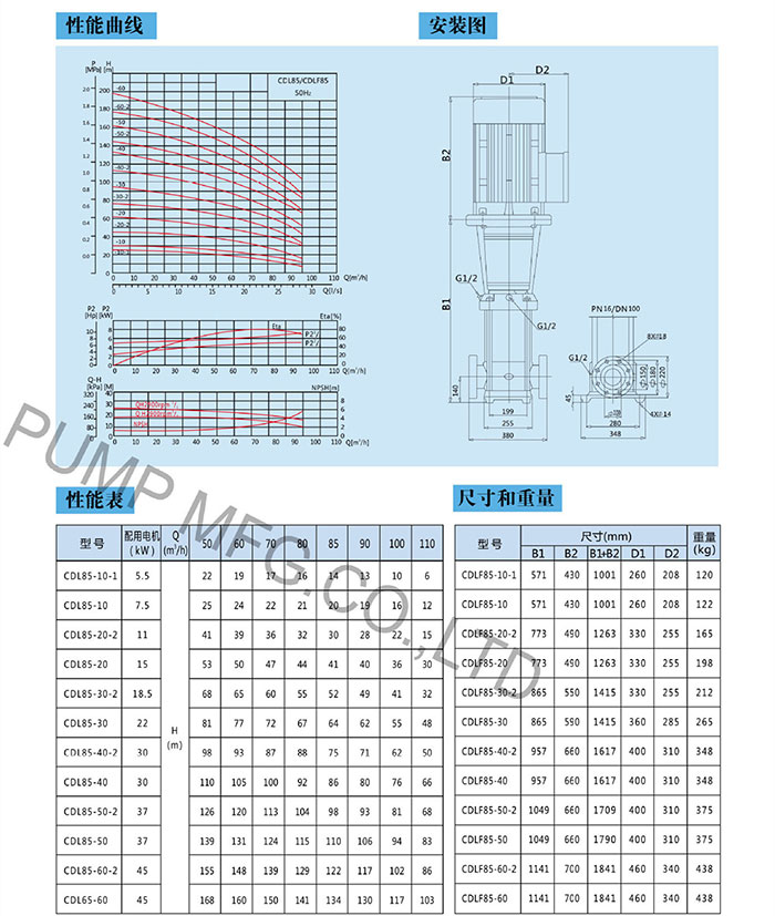 CDLF32 不锈钢多级离心泵