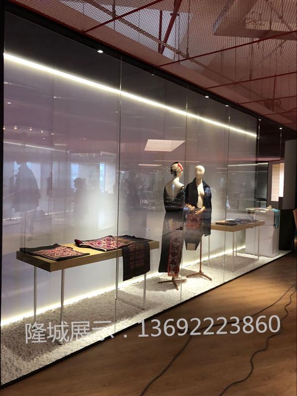 博物馆沿墙柜Y___1 博物馆墙柜-隆城展示