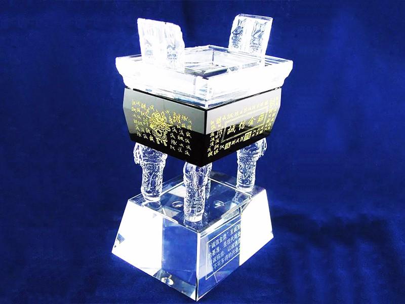 水晶鼎奖杯|水晶鼎-浦江鸿亿水晶礼品有限公司