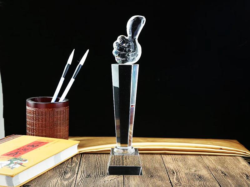 透明玻璃奖杯 设计|水晶奖杯工艺品礼品-浦江鸿亿水晶礼品有限公司