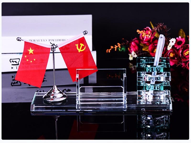 水晶制品 水印 彩印设计 水晶收银牌 摆件 笔筒办公用品 彩印-浦江鸿亿水晶礼品有限公司