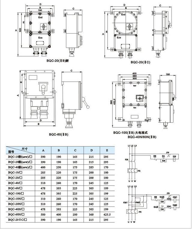 BQC-系列防爆磁力启动器|防爆起动器类-乐清亿安防爆电器有限公司