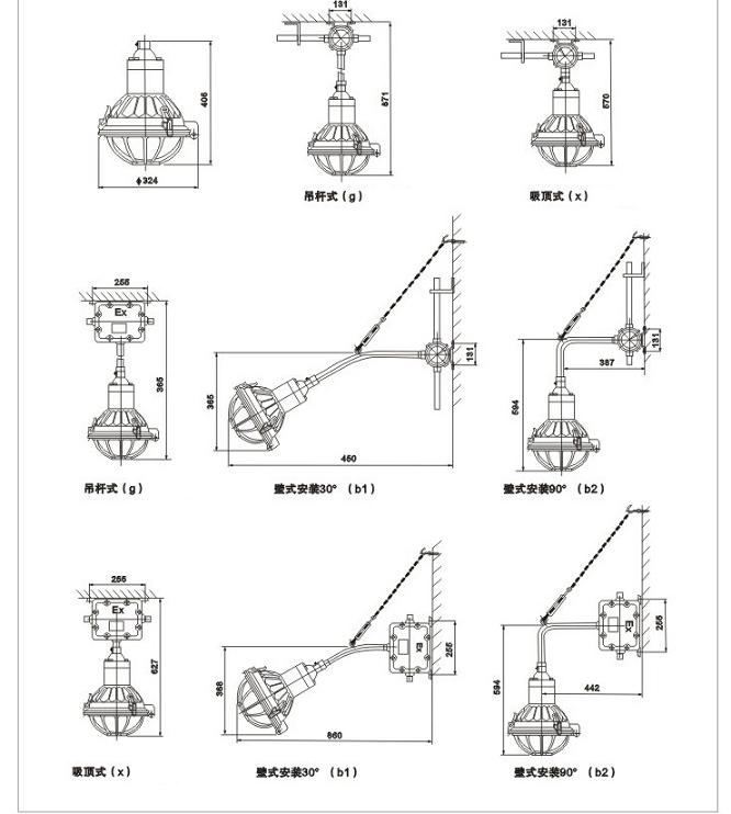 BGL-G系列不锈钢防爆灯(e、nR)|不锈钢类-乐清亿安防爆电器有限公司