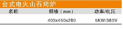 臺式電火山石烤爐