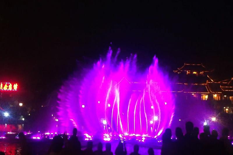 青州南阳河大型音乐喷泉|工程案例-山东中润喷泉工程有限公司