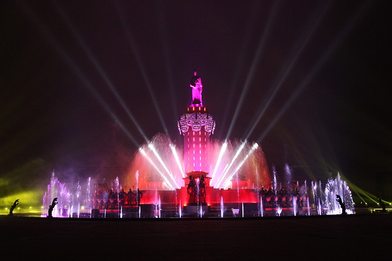 广饶孙武公园大型音乐喷泉|工程案例-山东中润喷泉工程有限公司