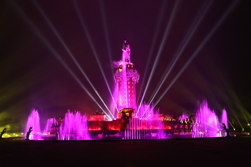 广饶孙武公园大型音乐喷泉 工程案例-山东中润喷泉工程有限公司