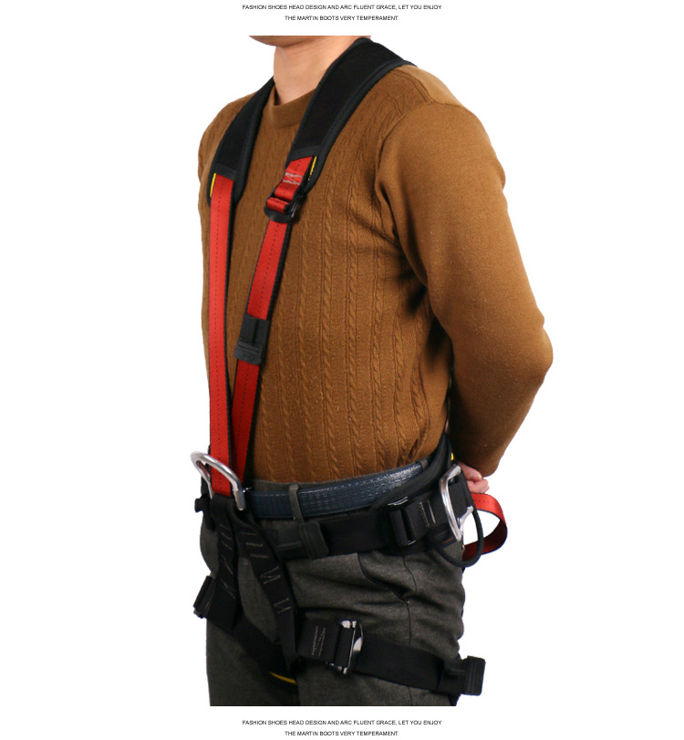 Z-Y-P-04Y單背帶全身安全帶戶外安全帶登山攀巖速降探洞|戶外安全帶系列-江蘇耐特爾繩帶有限公司