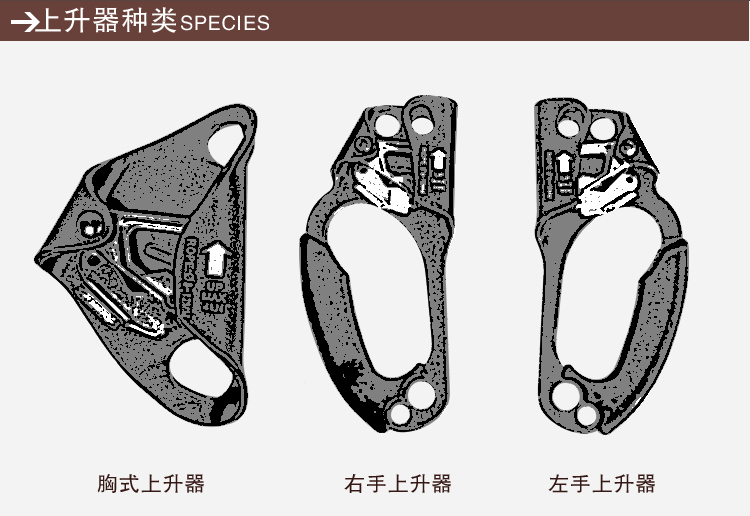 左手式上升器 攀巖裝備-江蘇耐特爾繩帶有限公司