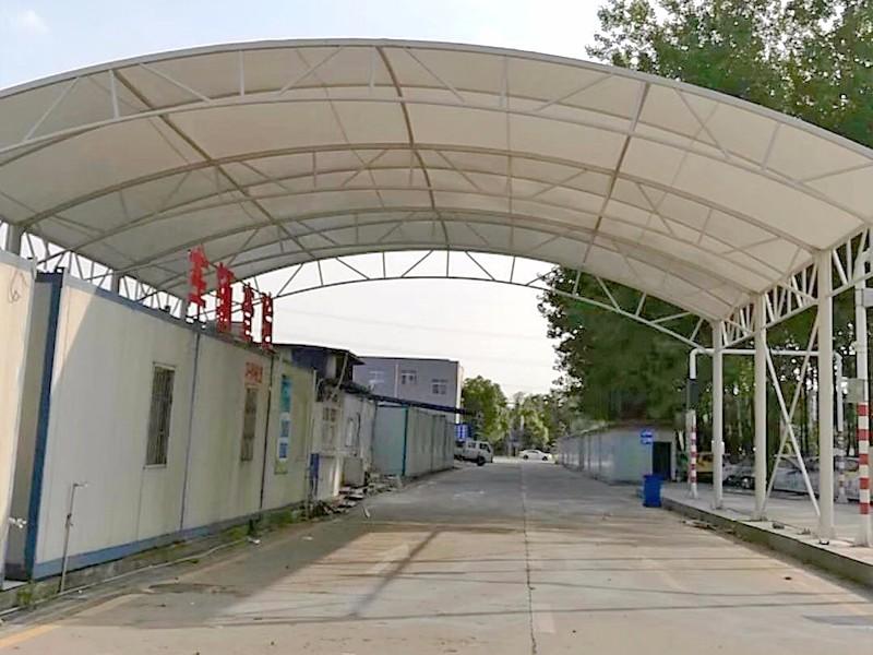 南京板桥车管所安检棚安装使用|新闻动态-常州红叶膜结构工程有限公司