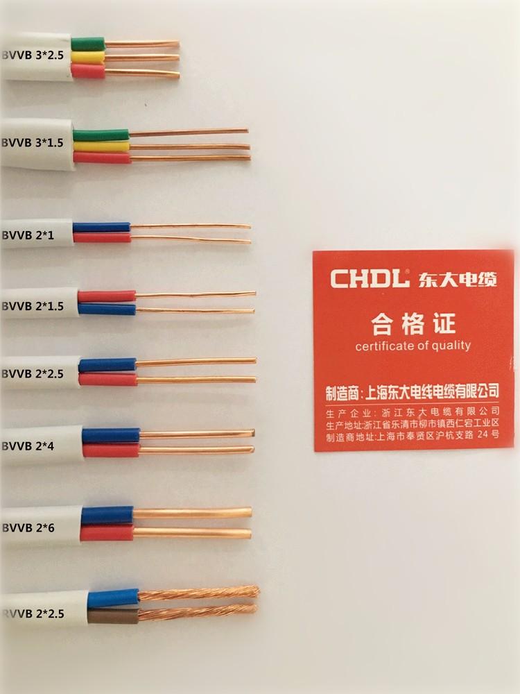 东大电缆线国标2芯硬护套线纯铜芯电线|热销电线电缆-浙江东大电缆有限公司