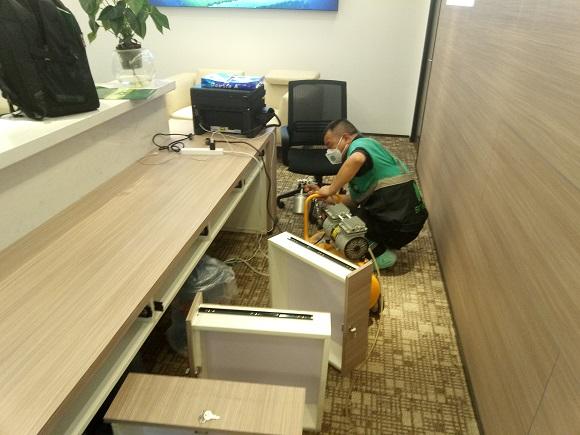 中信泰富中金数据办公区室内空气污染治理案例|新闻动态-武汉小小叶子环保科技有限公司