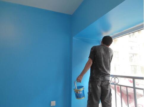 墙面涂料涂刷工序
