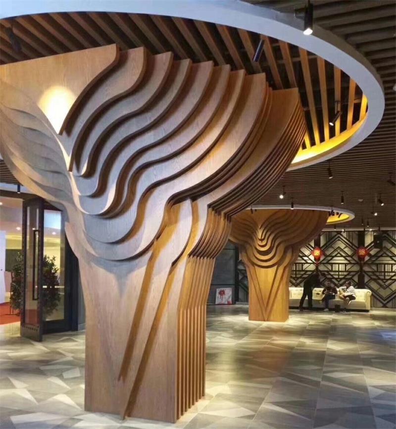 木纹弧形铝方通|弧形铝方通系列-广东三中建材科技有限公司