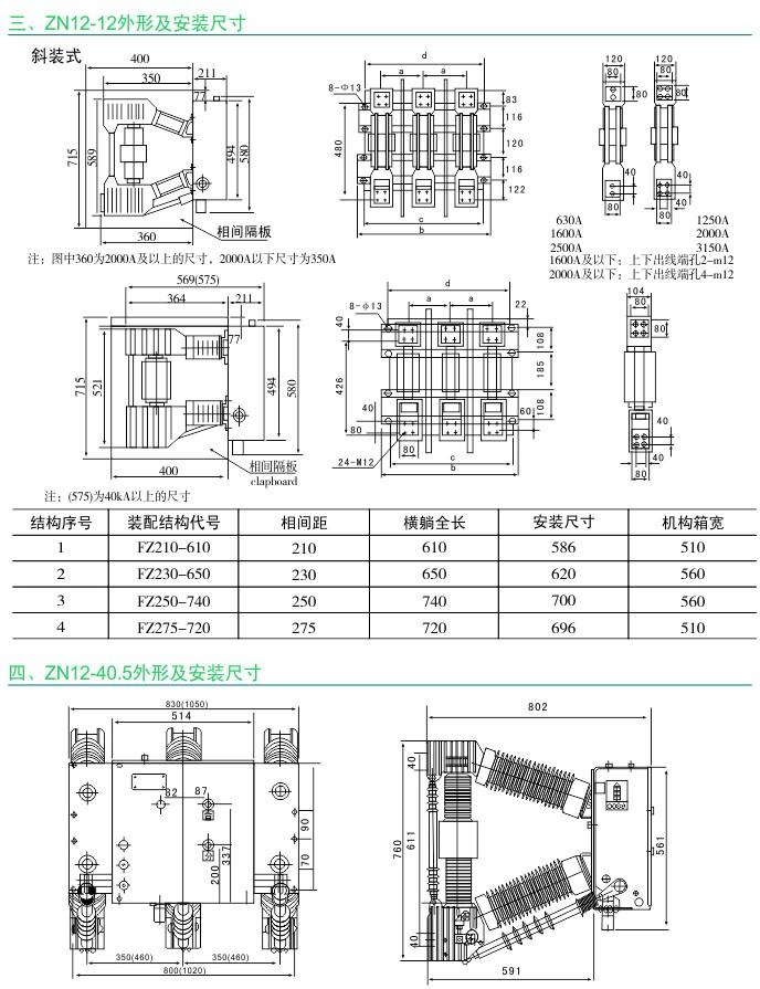 ZN12-12系列 ZN12-40.5系列 户内高压真空断路器|户内高压真空断路器-温州菲亿频智能电气有限公司