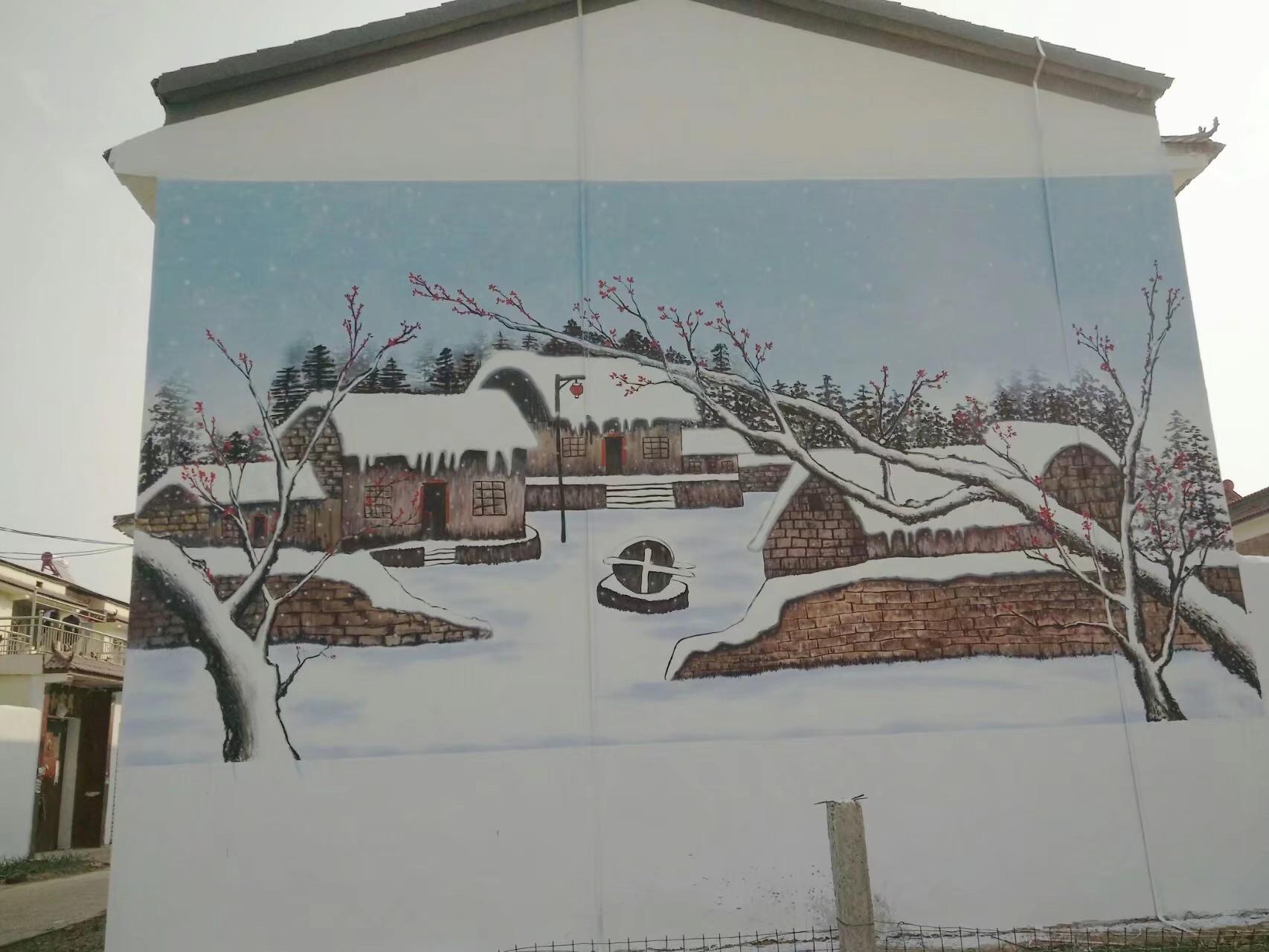 户外墙体彩绘 户外墙体手绘-开封青出于蓝彩绘有限公司