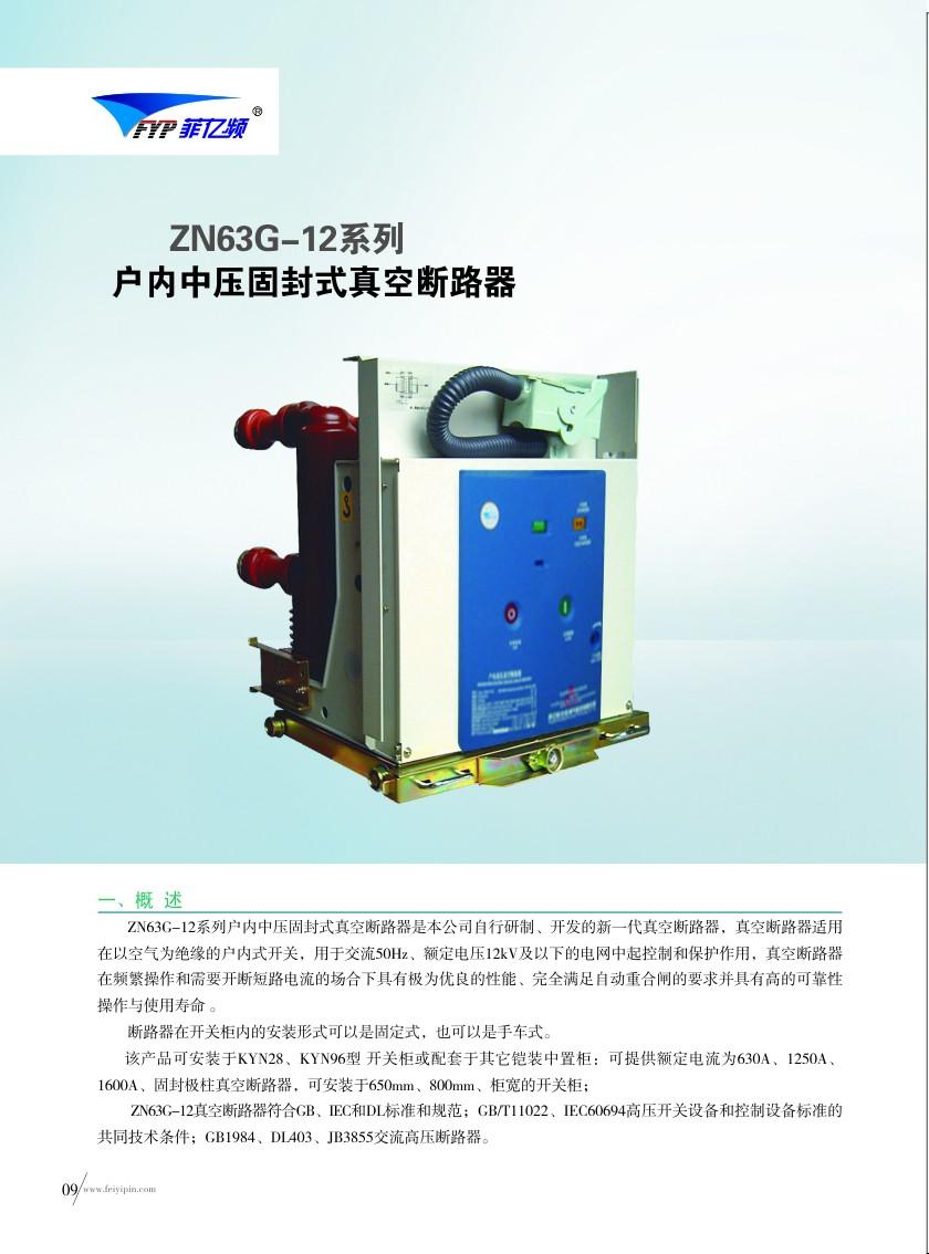 ZN63G-12系列户内中压固封式真空断路器|户内高压真空断路器-www.533999.com