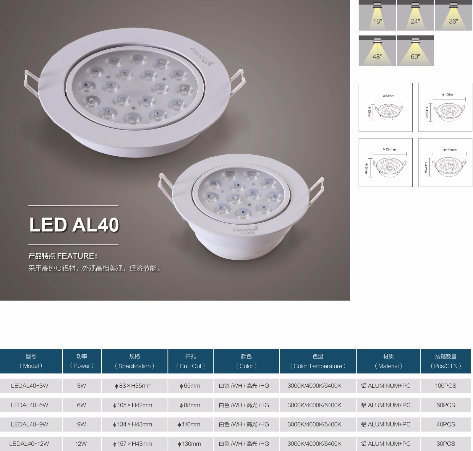 LED AL40|天花射灯-佛山市南海区东南灯饰照明有限公司
