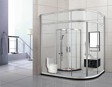 浴室玻璃隔断的好处和用透明玻璃和磨砂玻璃哪个好_重庆隔断