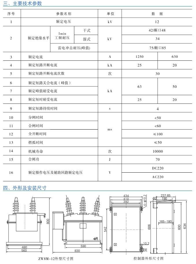 ZW8M-12系列 户外高压永磁真空断路器|户外真空断路器-温州菲亿频智能电气有限公司