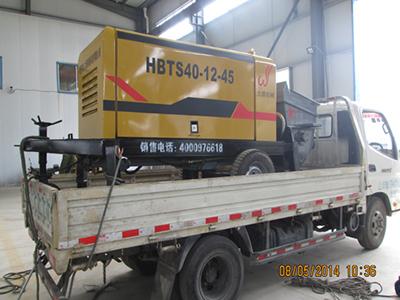 北京40细石砂浆泵成功发货
