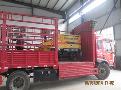 北京2台混凝土泵成功发货
