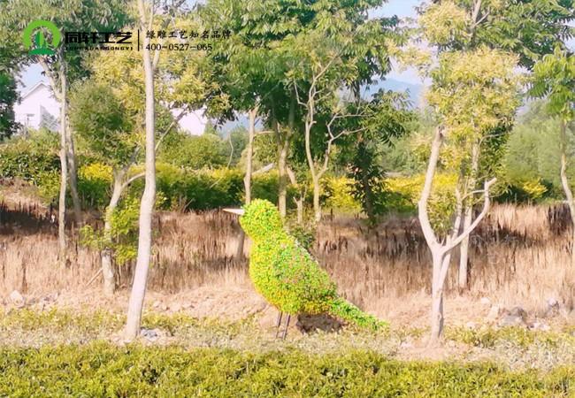 仿真绿雕百灵鸟