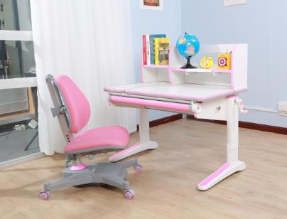 白色板豪華包邊條三色兒童學習桌  SO-D818 粉色|兒童學習桌-上海孩子王兒童用品有限公司