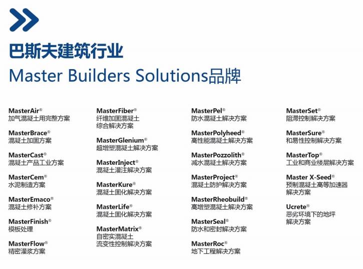 巴斯夫建筑行业品牌- maste builders solution