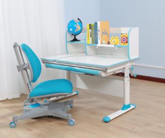 白色板豪華包邊條三色兒童學習桌  SO-D616 藍色|兒童學習桌-上海孩子王兒童用品有限公司
