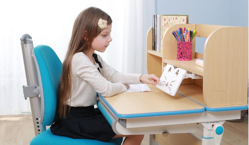 白色微晶顆粒實木板兒童學習桌 SO-D616 藍色|兒童學習桌-上海孩子王兒童用品有限公司