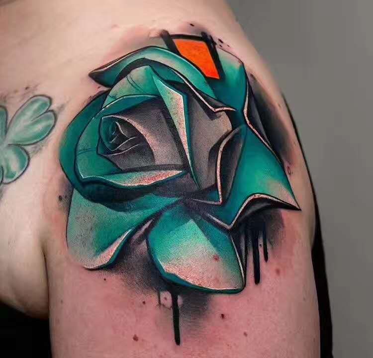 郑州纹身:写实牡丹纹身,写实纹身.jpg