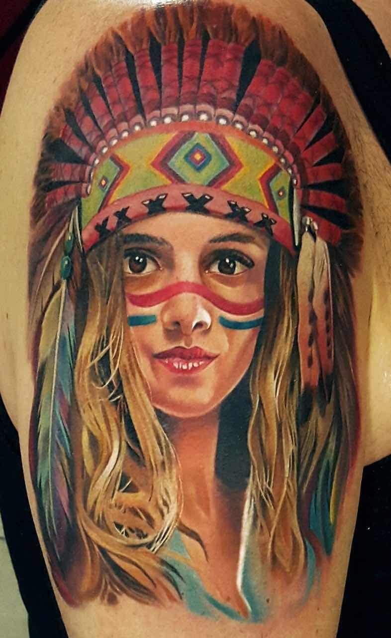 郑州纹身:印第安女神纹身.jpg