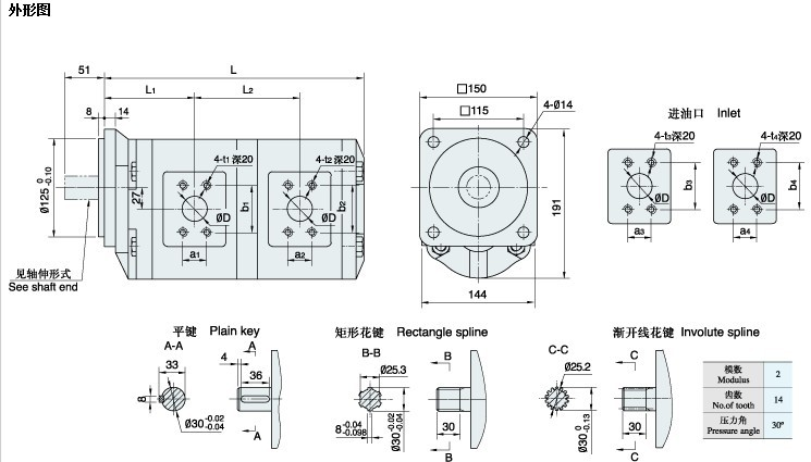CBG 双联|齿轮泵-天天彩票