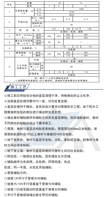 SBS改性沥青防水卷材|SBS改性沥青防水卷材-潍坊泰岳防水材料有限公司