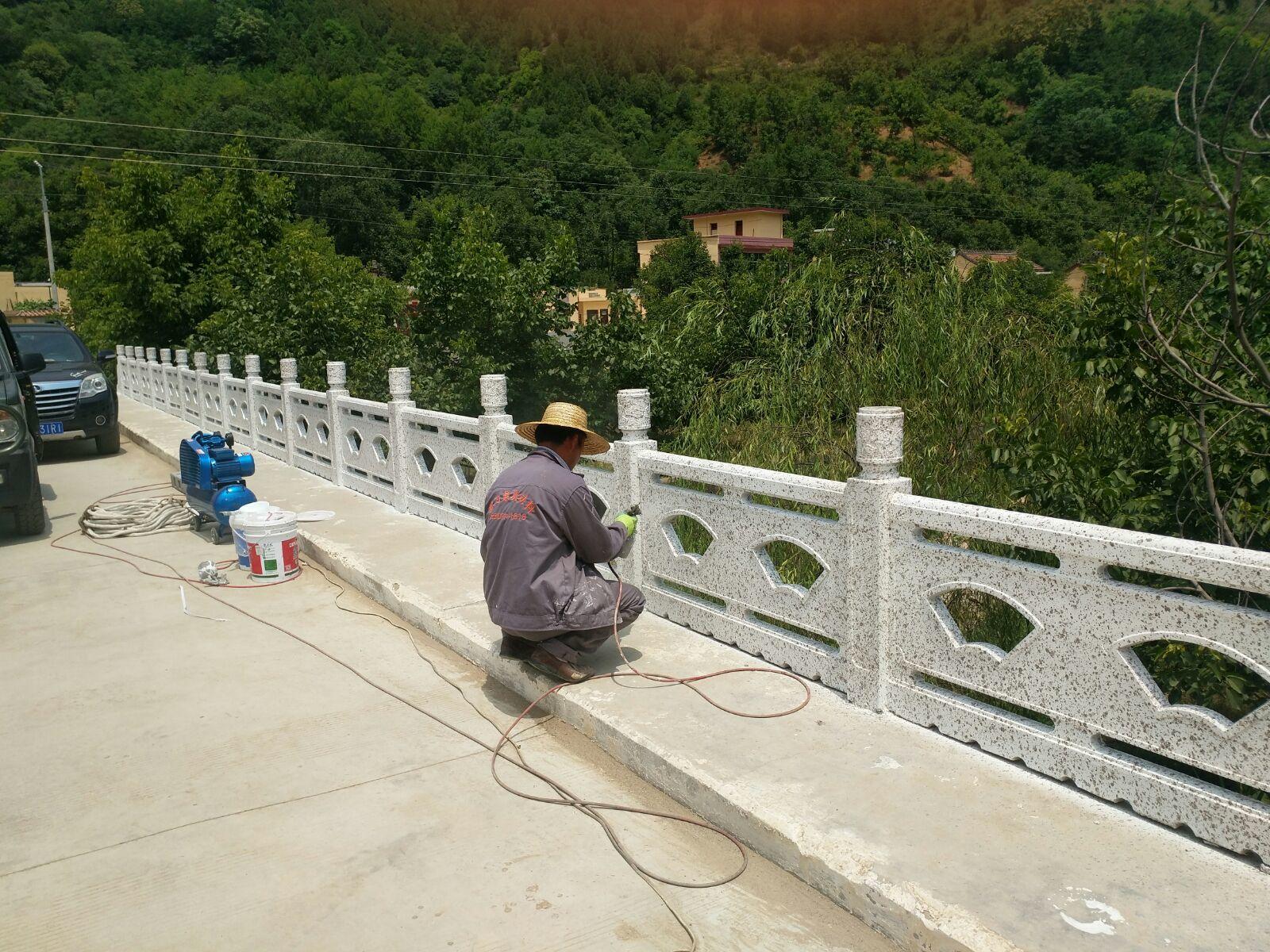 喷漆工程施工现场|工程案例-陕西毅力景观材料有限公司