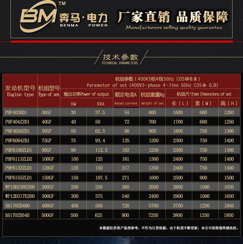 发电机组100KW 奔马动力潍柴系列柴油发电机组-潍坊奔马动力设备有限公司