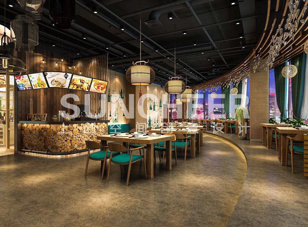 绿意中餐厅_重庆餐饮设计公司【上创品牌策划】