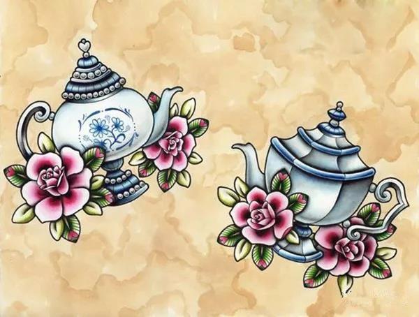 郑州专业纹身店为您提供色彩鲜艳的newschool纹身手稿|纹身常识-郑州天龙纹身工作室