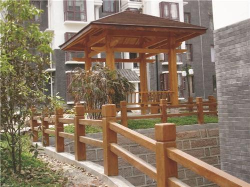 陕西仿木栏杆|西安H型仿木栏杆-陕西毅力景观材料有限公司