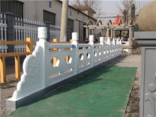 陕西祥云头扇形河堤护栏|西安扇形河堤护栏-陕西毅力景观材料有限公司