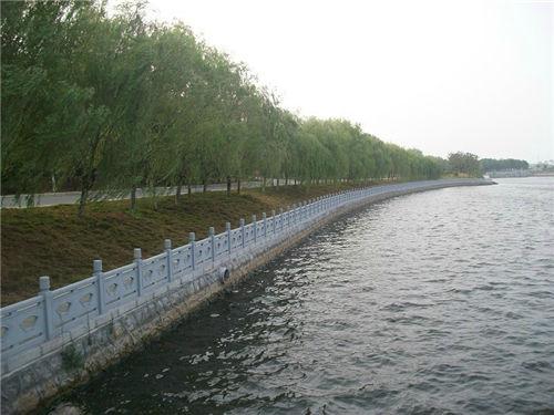 陕西扇形河堤护栏