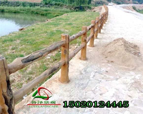 山西仿木栏杆制作总结|云竹湖仿木护栏制作安装流程|仿木栏杆新闻-山东鲁泽景观工程有限公司