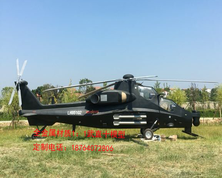 国防教育展品 1:1武直10直升机模型定制 出自厂家山东鼎航|1:1直升机模型-山东鼎航模型有限公司