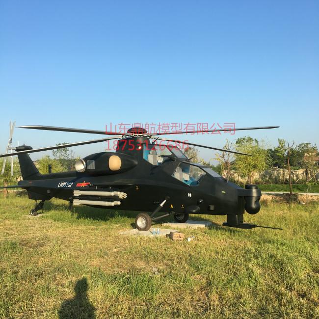 定制1:1比例武直-10直升机模型大比例高仿真军事模型生产定制|1:1飞机模型-山东鼎航模型有限公司