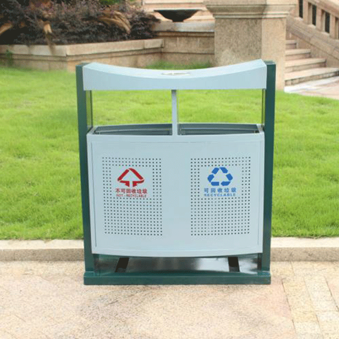 公园垃圾桶、塑料废物箱、小区垃圾桶价格是多少?-重庆旭雅文环保设备公司