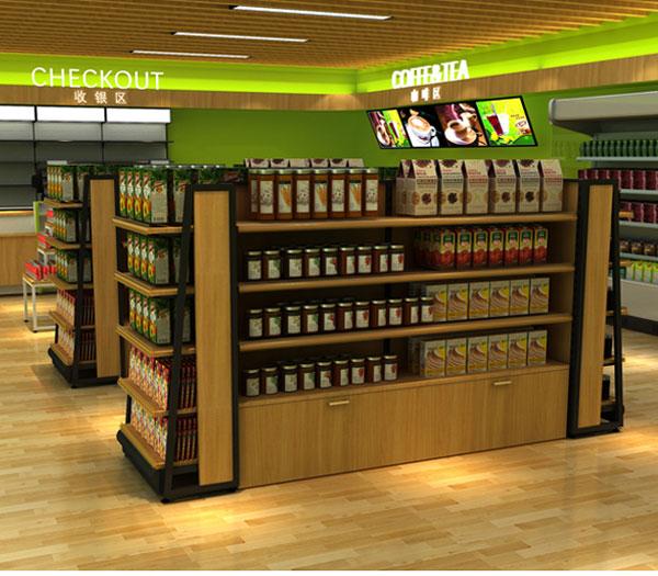 吸引顾客的定做进口食品店货架案例