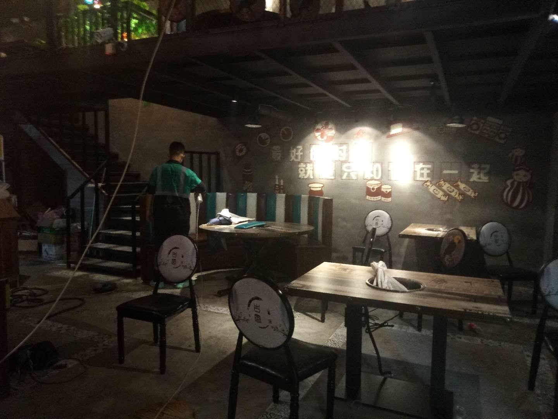 汉北广场捉鸭记餐厅空气污染治理案例|餐饮类除甲醛空气净化治理-武汉小小叶子环保科技有限公司