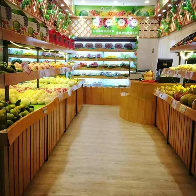 木质蔬果货架|果蔬货架-南岸区尧舜展柜制作部