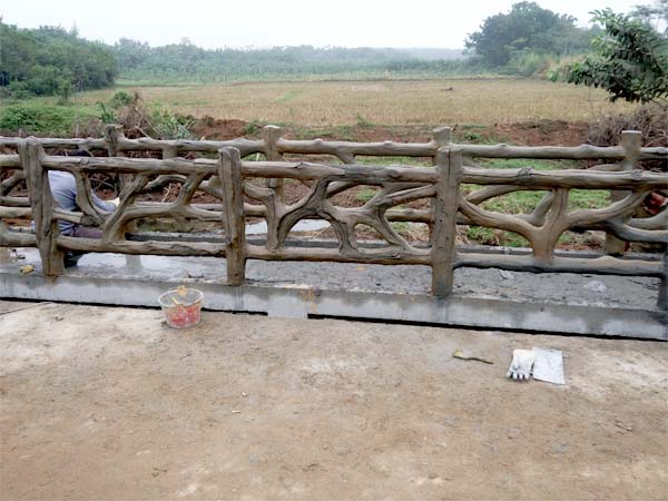 水泥仿木栏杆图片大全|仿木栏杆新闻-山东鲁泽景观工程有限公司